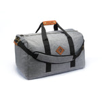 Crosshatch Grey Nylon Smell Proof Water Resistant Medium Duffle Bag