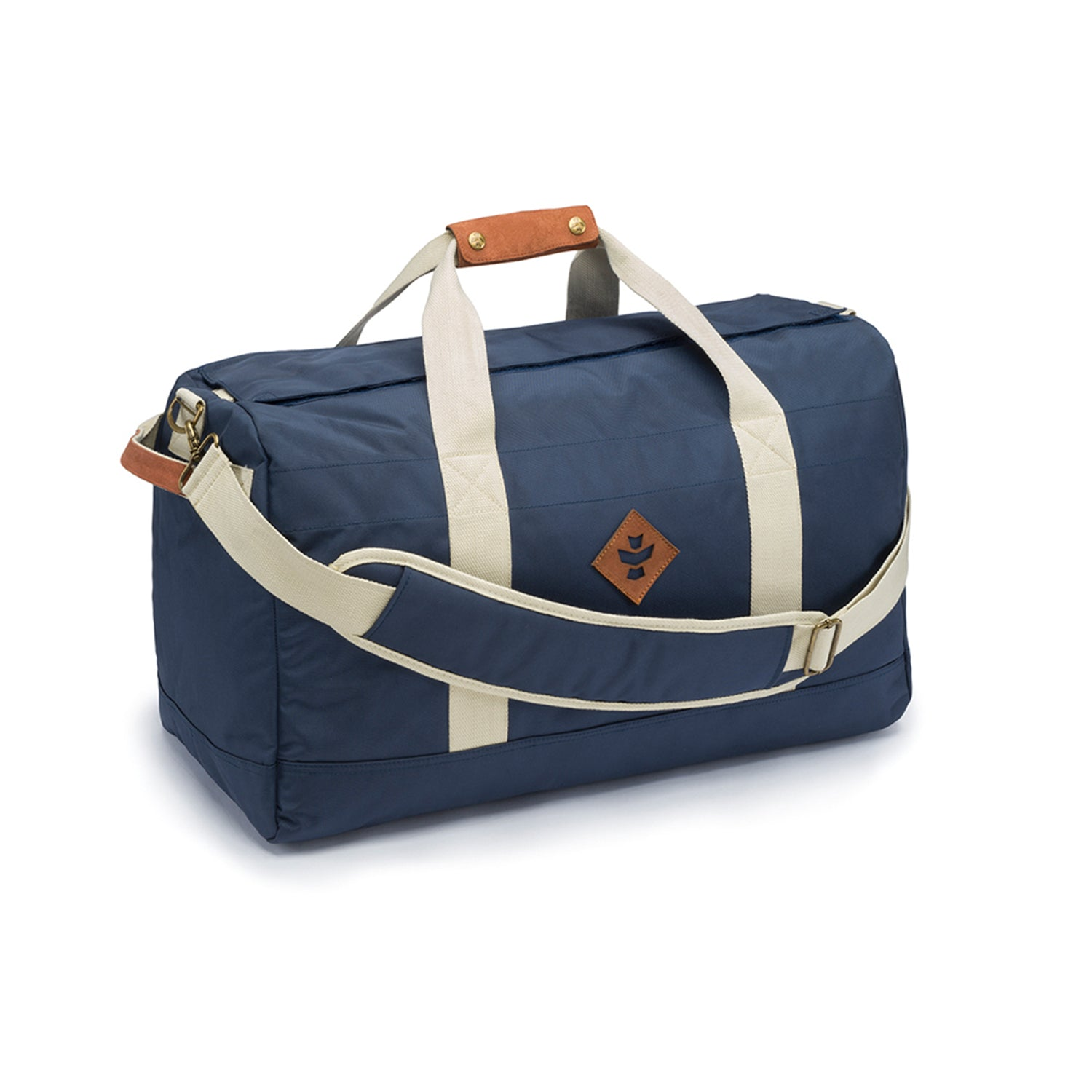 Navy Blue Smell Proof Water Resistant Medium Duffle Bag