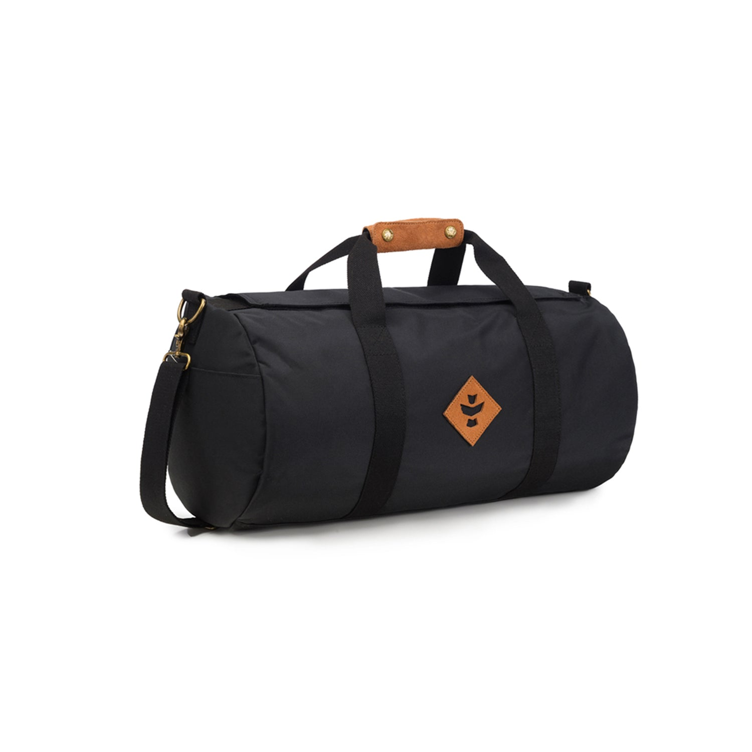 Black Nylon Smell Proof Water Resistant Small Duffle Bag