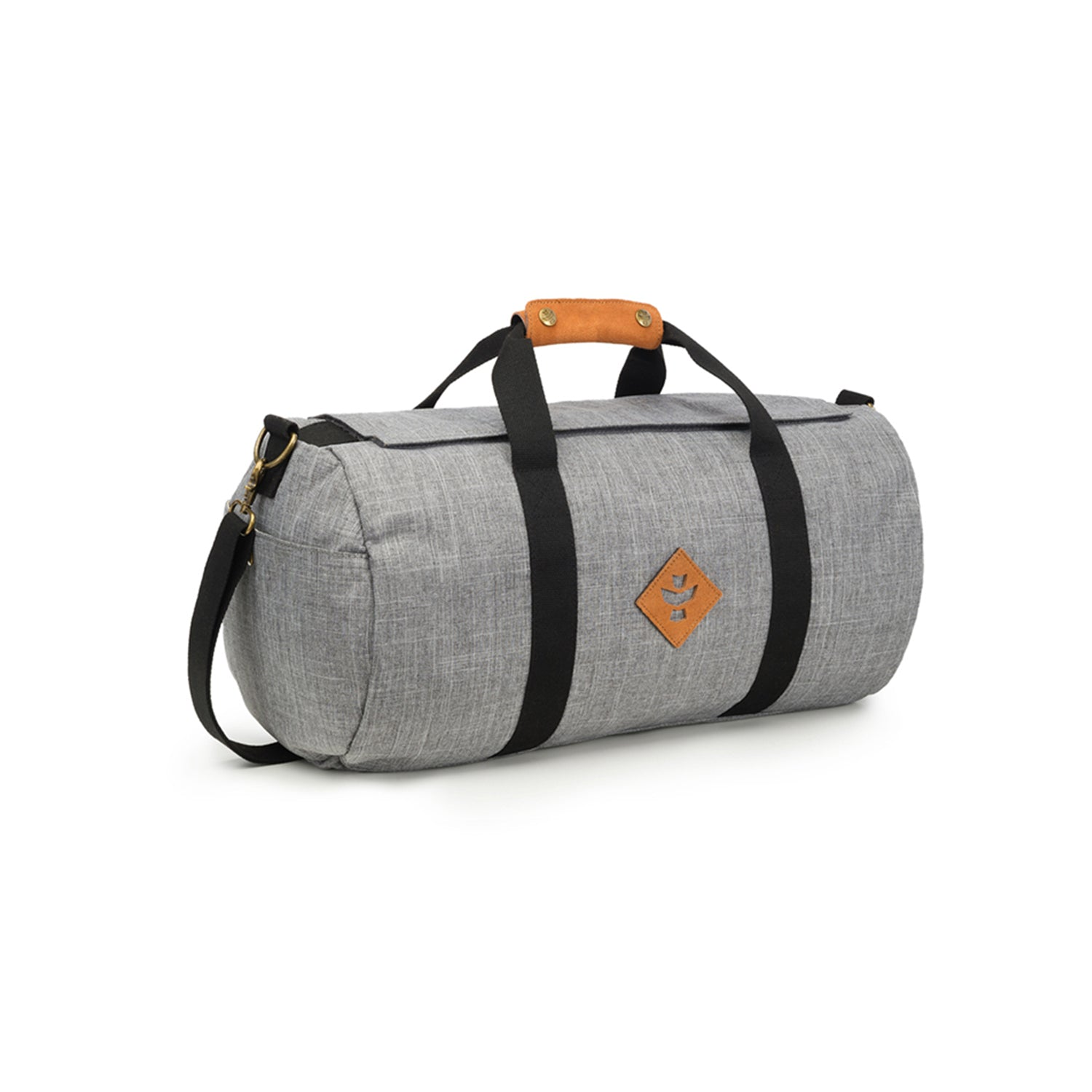 Crosshatch Grey Nylon Smell Proof Water Resistant Small Duffle Bag