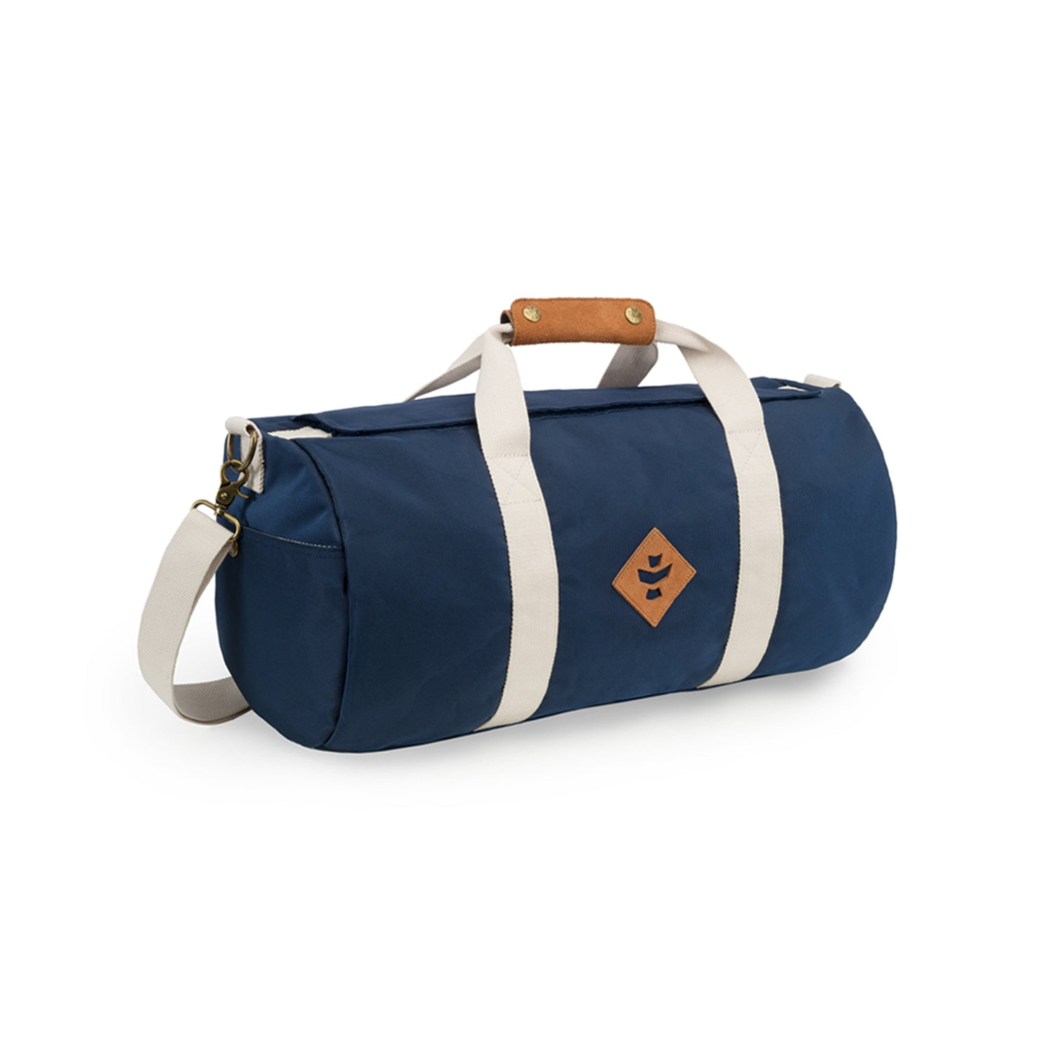 Navy Blue Nylon Smell Proof Water Resistant Small Duffle Bag