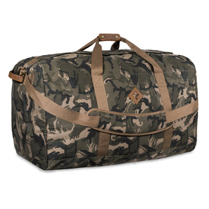 Camo Brown Canvas Smell Proof Water Resistant Extra Large Duffle Bag