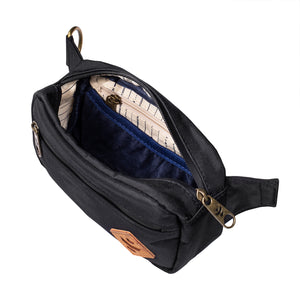 Black Nylon Smell Proof Water Resistant Crossbody Bag Interior Zipper