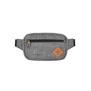 Crosshatch Grey Nylon Smell Proof Water Resistant Crossbody Bag