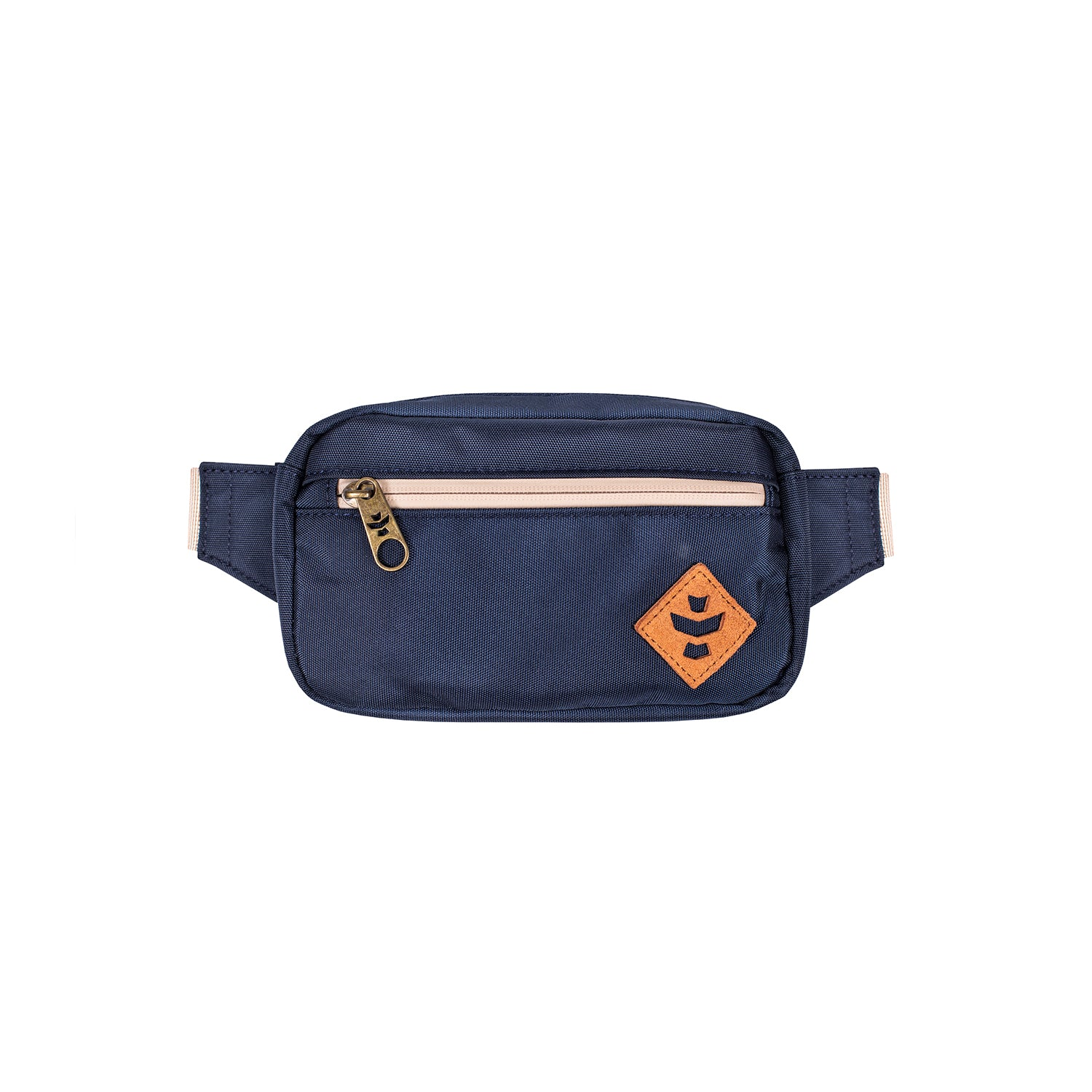 Navy Blue Nylon Smell Proof Water Resistant Crossbody Bag