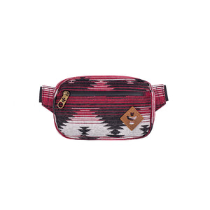 Maroon Pattern Smell Proof Water Resistant Crossbody Bag