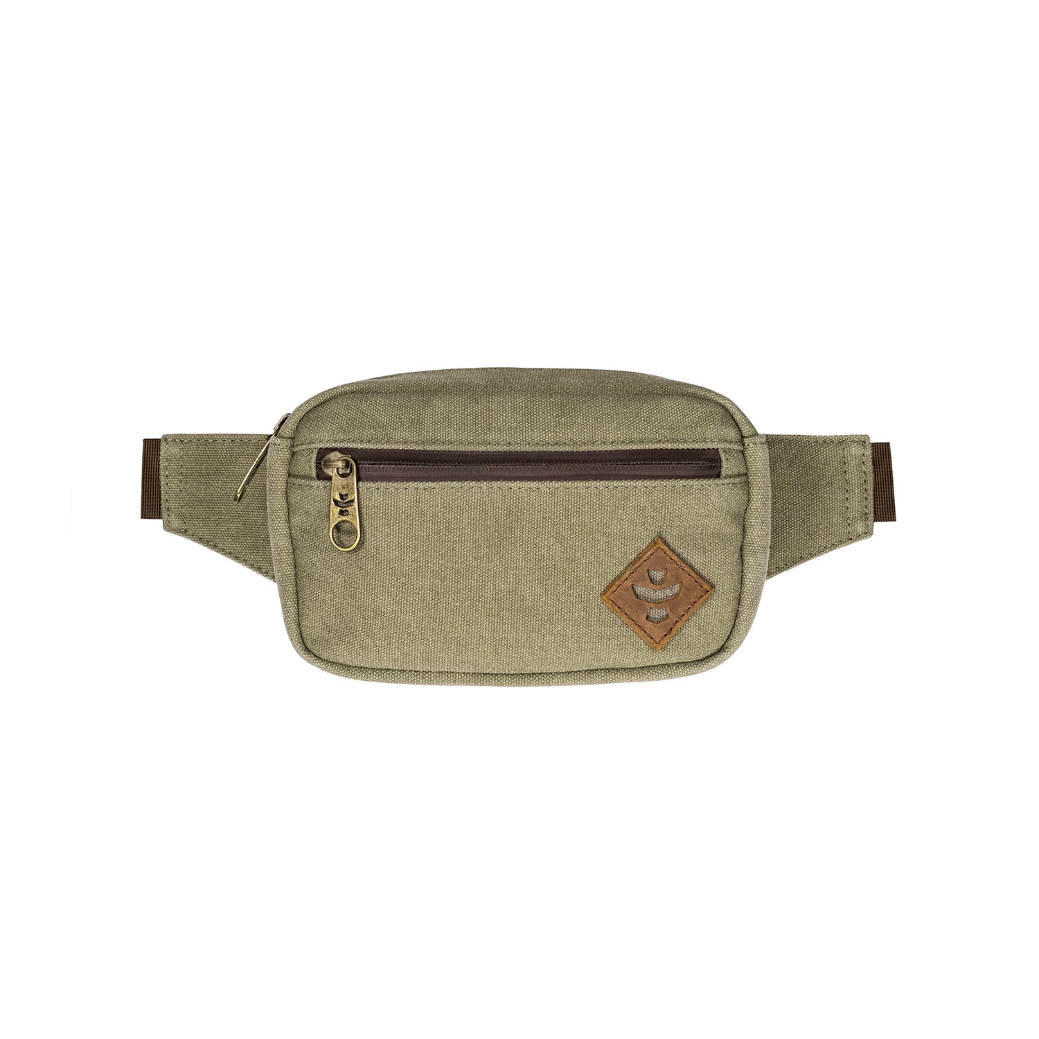 Sage Canvas Smell Proof Water Resistant Crossbody Bag
