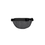 Striped Dark Grey Nylon Smell Proof Water Resistant Fanny Pack