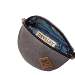 Canvas Smell Proof Water Resistant Fanny Pack Interior Zipper