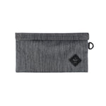Dark Striped Grey Nylon Smell Proof Water Resistant Velcro Bank Bag