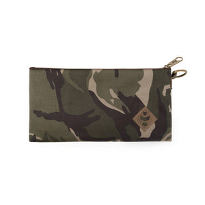 Camo Brown Canvas Smell Proof Water Resistant Zipper Bank Bag