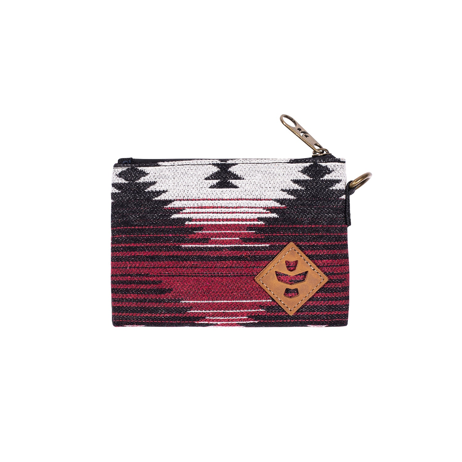 Maroon Pattern Smell Proof Water Resistant Small Zipper Bank Bag