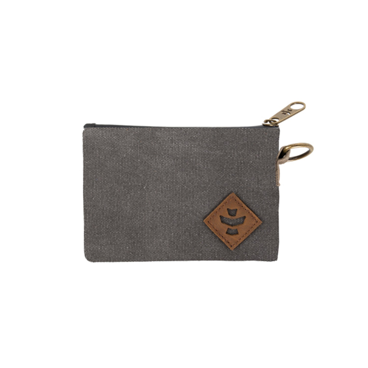 Ash Canvas Smell Proof Water Resistant Small Zipper Bank Bag