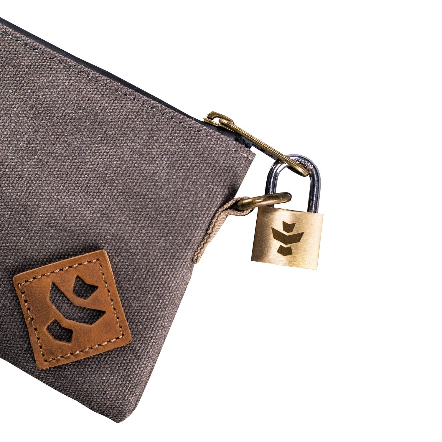 Ash Canvas Smell Proof Water Resistant Small Zipper Bank Bag Lock