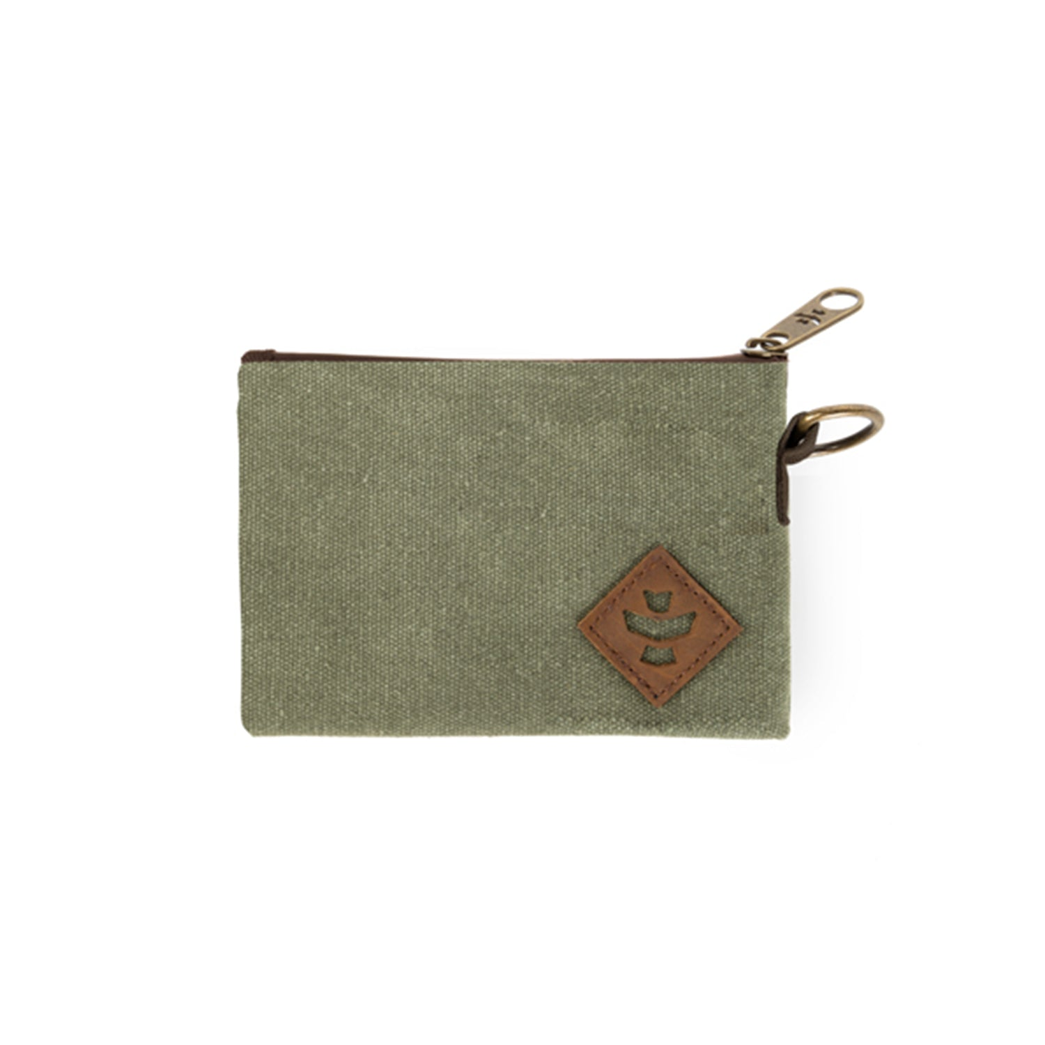 Sage Canvas Smell Proof Water Resistant Small Zipper Bank Bag