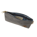 Ash Canvas Smell Proof Water Resistant Zipper Bank Bag Interior