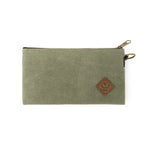 Sage Canvas Smell Proof Water Resistant Zipper Bank Bag