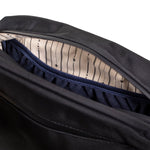 Black Nylon Smell Proof Water Resistant Toiletry Dopp Kit Bag Interior