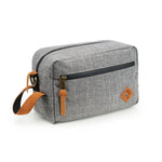Crosshatch Grey Nylon Smell Proof Water Resistant Toiletry Dopp Kit Bag