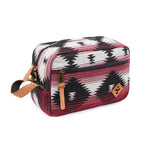 Maroon Pattern Smell Proof Water Resistant Toiletry Dopp Kit Bag