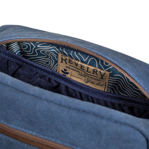 Marine Canvas Smell Proof Water Resistant Toiletry Dopp Kit Bag Interior