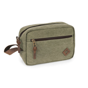 Sage Canvas Smell Proof Water Resistant Toiletry Dopp Kit Bag