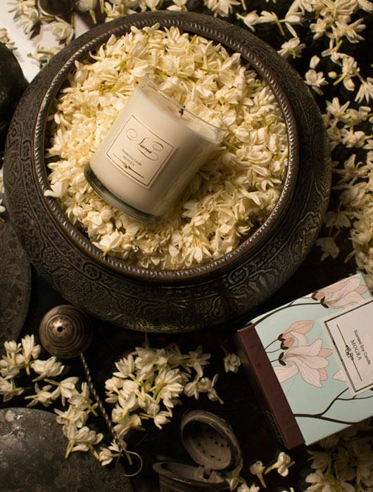 Signature Candle Duo - Mogra & Wild Rose