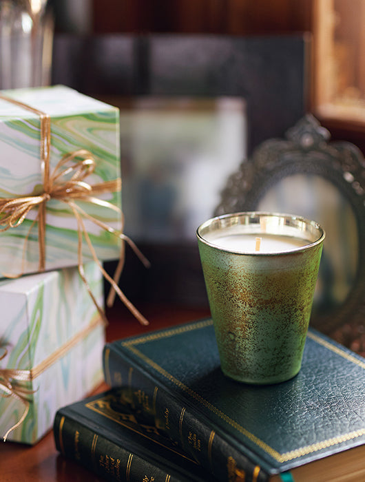 Crescent Green Candle