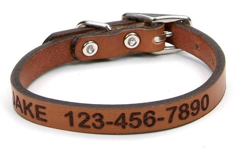 Leather Collar - Small 1/2
