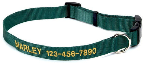 Nylon Personalized Embroidered Collar Small 5/8