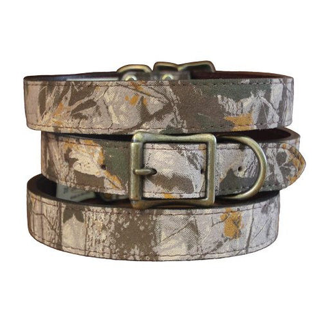 Auburn Camouflage Collar - Leather