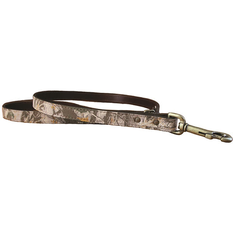 Auburn Camouflage Leather Leash