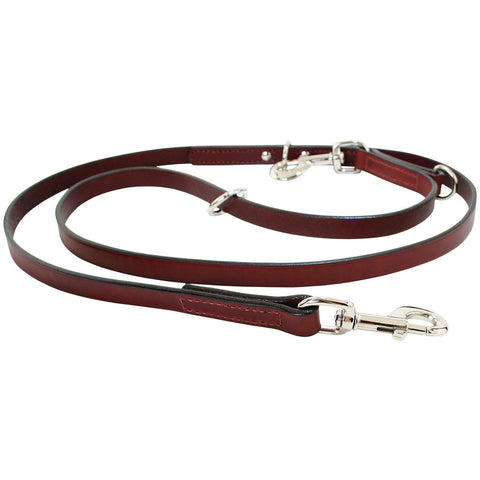 Auburn Multi-Function Leather Lead