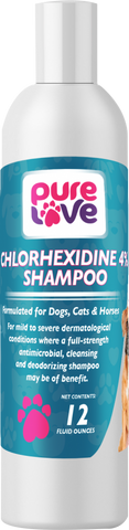 Pure Love Chlorhexidine 4% Shampoo for Dogs and Cats