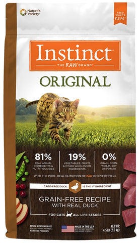 Nature's Variety Instinct Original Grain Free Recipe with Real Duck Natural Dry Cat Food