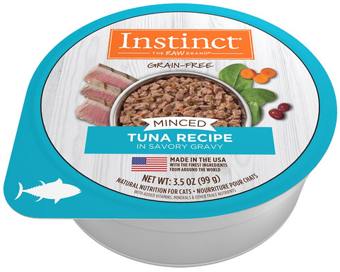 Instinct Adult Grain Free Minced Recipe with Real Tuna Natural Cat food Cups