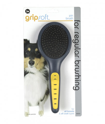 JW Pet Gripsoft Pin Brush for Dogs