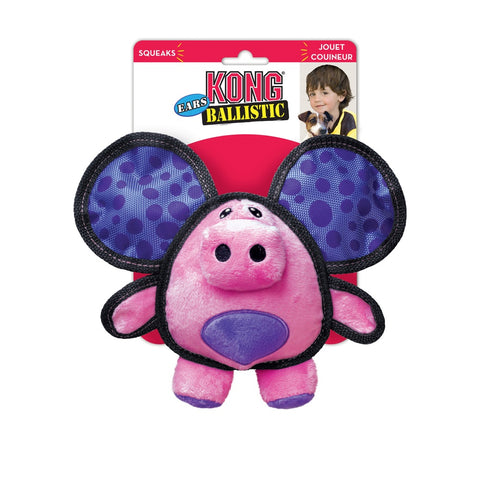 KONG Ballistic Ears Pig Dog Toy