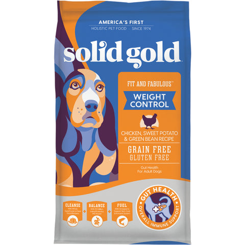 Solid Gold Fit & Fabulous Grain Free Weight Control Recipe with Chicken, Sweet Potato, & Green Bean Dry Dog Food