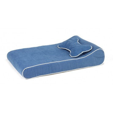 Contour Memory Foam Lounger - Blueberry Microtwill