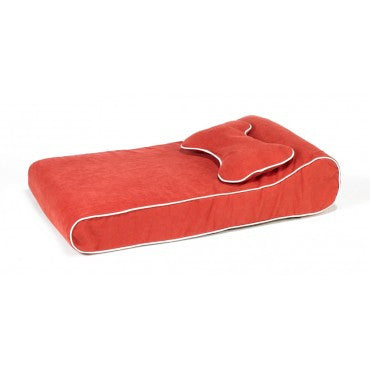 Contour Memory Foam Lounger - Watermelon Microtwill