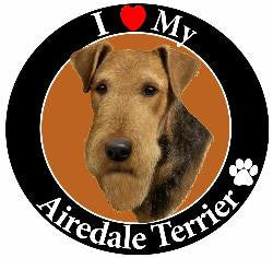Decal Magnet Airedale Terrier