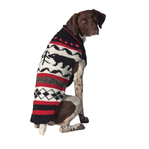 Chilly Dog Black Bear Knit Dog Sweater