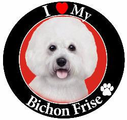 Bichon Frise Decal Magnet