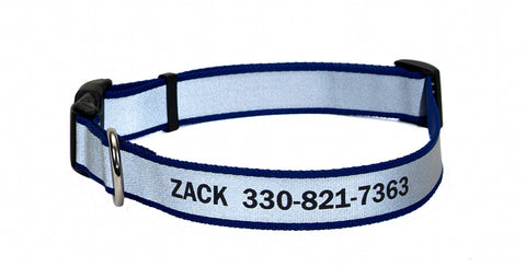 Lazer Brite Reflective Personalized Collar