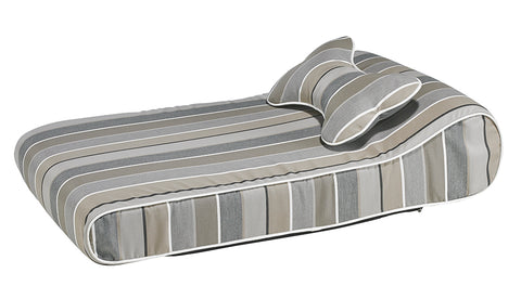 Bowsers Contour Memory Foam Lounger - Boardwalk Stripe