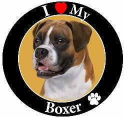 Boxer Decal Magnet