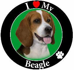 Beagle Decal Magnet