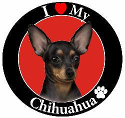 Chihuahua (Black) Decal Magnet