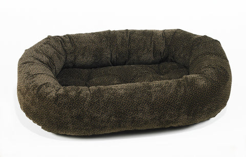 Donut Bed Chocolate Bones Microvelvet